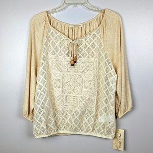 REWIND | New Embellished Boho Peasant Blouse L